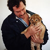 Daddy with a lion cub! I don't know the year.