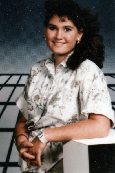 A high school portrait of my sister, Amber. I'm not sure of the year.