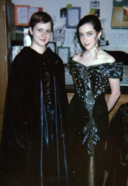 Me at my roommate, Cat, just before Senior Prom. Year 2000.