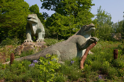 """Crystal Palace Dinosaurs """"Iguanodon &  Megalosaurus"""""""