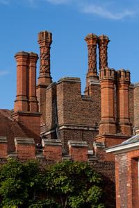 "Decorative Tudor Brick Chimneys ""Hampton Court Palace"""
