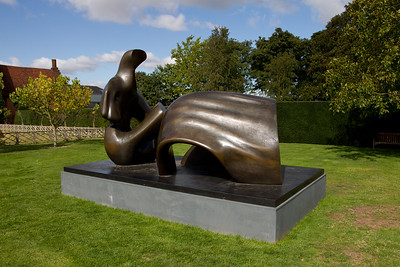 """Henry Moore """"Thee Piece Reclining Figure Draped"""""""