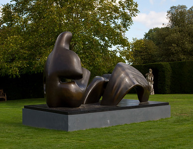 Henry Moore 'Thee Piece Reclining Figure Draped'