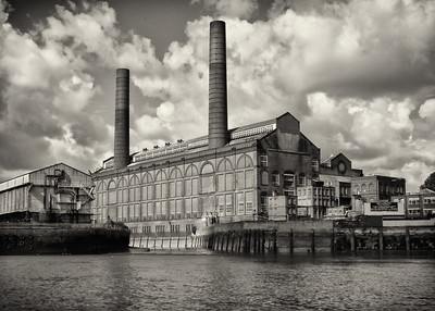 Old Factorie On The River Thames