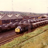 40174 passes Healey Mills with Presflo wagons on 6th September 1983