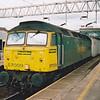 57009 'Freightliner Venturer' passing Stafford on 18th April 2001