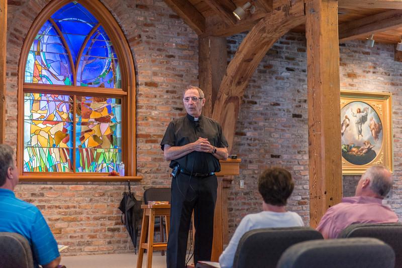Fr. Ron Boudreax, SJ, presenting