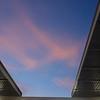 Pink sky above the stadium<br /> <br /> Rózsaszín az ég a stadion felett