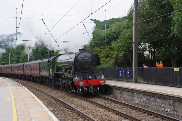 60103 Flying Scotsman passing Keighley with 'The Hadrian' 24th July 2021 (9)