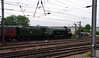 60103 Flying Scotsman & support coach come off Doncaster West yard to attach to the front of special Doncaster 24th July 2021 (7)