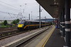 180104 with a Bradford to Kings Cross Grand Central express Doncaster 24th July 2021