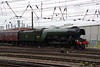 60103 Flying Scotsman & support coach come off Doncaster West yard to attach to the front of special Doncaster 24th July 2021 (9)