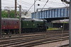 60103 Flying Scotsman & support coach come off Doncaster West yard to attach to the front of special Doncaster 24th July 2021 (4)
