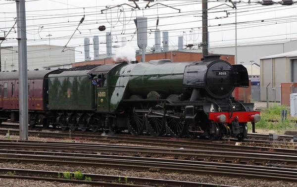 60103 Flying Scotsman ready to depart with 'The Hadrian' Doncaster 24th July 2021 (1)
