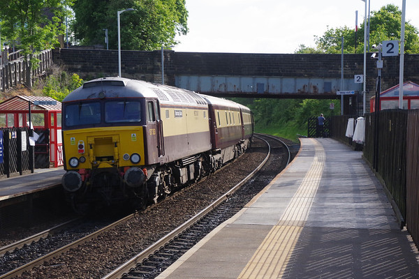 57313 Scarborough Castle on the rear of the Northern Belle with special from Manchester to Edinburgh passing Deighton 4th June 2021 (5)