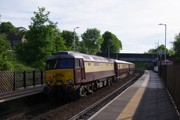 57313 Scarborough Castle on the rear of the Northern Belle with special from Manchester to Edinburgh passing Deighton 4th June 2021 (2)