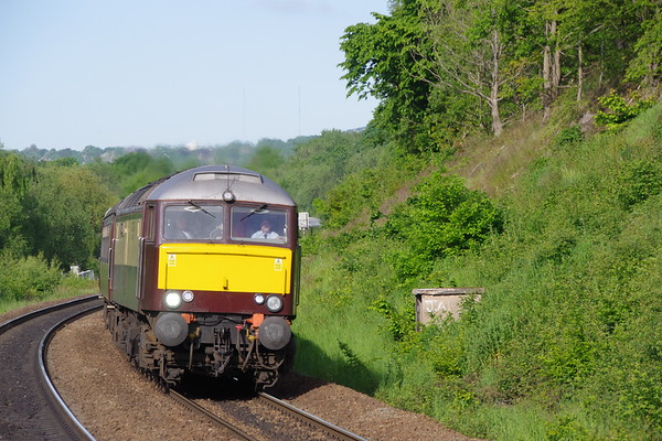 57601 Windsor Castle leads the Northern Belle with special from Manchester to Edinburgh passing Deighton 4th June 2021 (2)