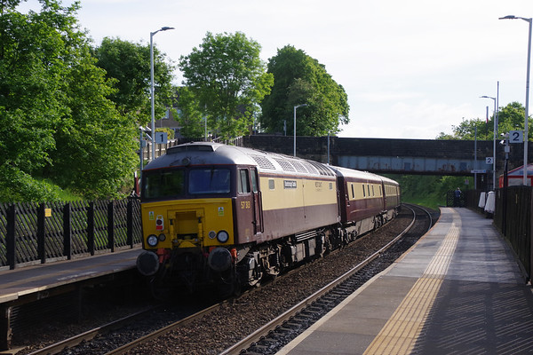 57313 Scarborough Castle on the rear of the Northern Belle with special from Manchester to Edinburgh passing Deighton 4th June 2021 (3)