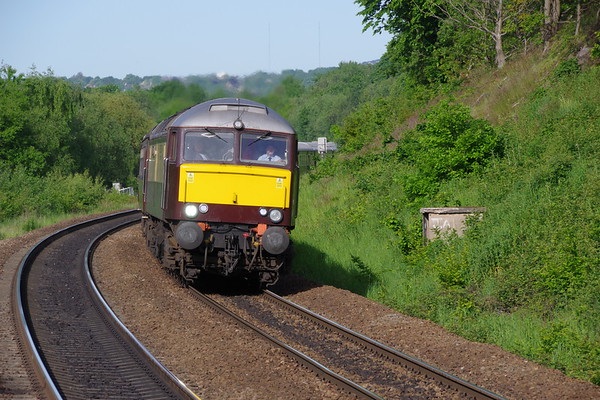 57601 Windsor Castle leads the Northern Belle with special from Manchester to Edinburgh passing Deighton 4th June 2021 (1)