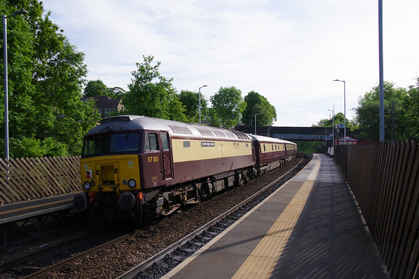 57313 Scarborough Castle on the rear of the Northern Belle with special from Manchester to Edinburgh passing Deighton 4th June 2021 (1)
