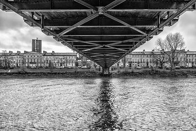 Under the South Portland Street Bridge