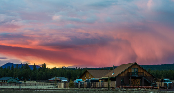 Stormy Sunset in Flagstaff