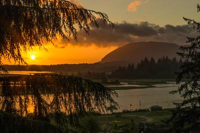 Sunset in Wheeler, Oregon