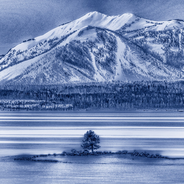"Winter Island Blue     __ 9707Ls <br /> <br /> <br /> <br /> This unique image is fused directly onto a specially treated, rigid piece of Aluminum.<br /> More archival and lighter than a framed paper print, it arrives ready to hang.<br /> The Float-Mounted MetalPrint™ needs no frame and<br /> will appear to float 3/4"" from your wall.<br /> <br /> Archival paper prints are also available<br /> ------- Contact us for more information -------<br /> moreinfo@RobertHowellPhotography.com<br /> ."