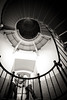 Daytona Beach Engagement Photos spiral staircase at Ponce Inlet Lighthouse