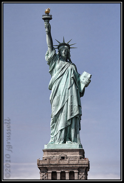 """Give me your tired, your poor,"" she said. ""Your huddled masses yearning to breathe free..."""