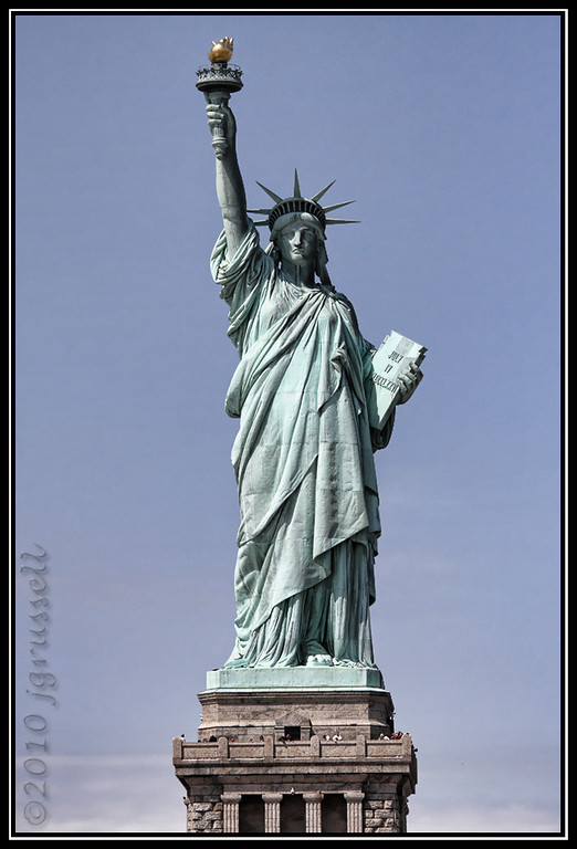 """""""Give me your tired, your poor,"""" she said. """"Your huddled masses yearning to breathe free..."""""""