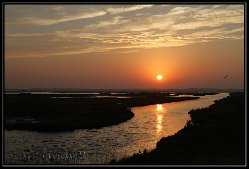Sunset at Forsythe NWR