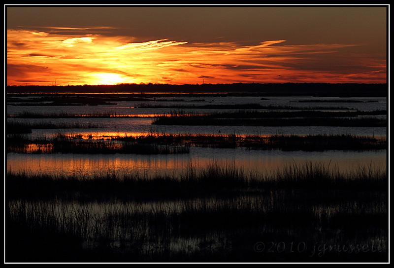 Sunset nears