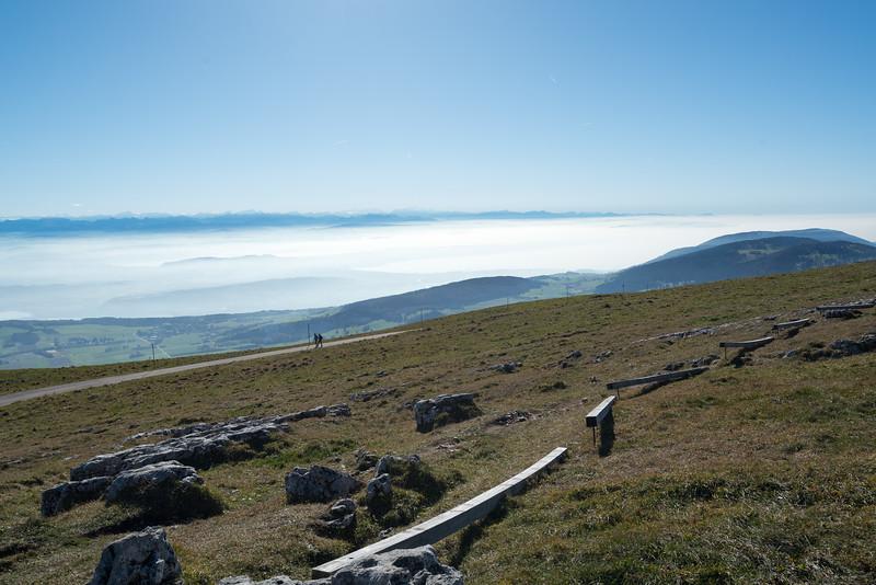 Chasseral hike trail