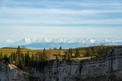 Creux du Van, view toward the Alps