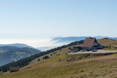 Chasseral restaurant and more fog