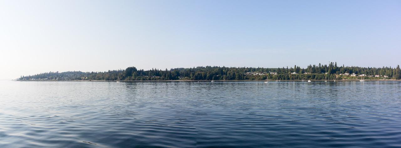 Small panorama near landing