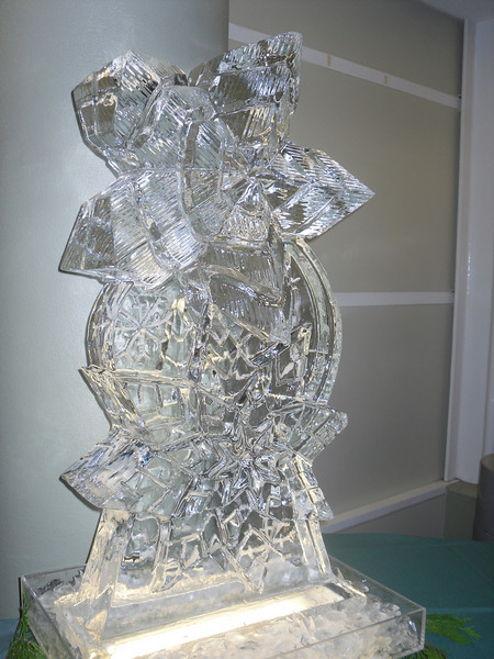 Stacked snowflakes Ice carving