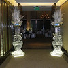 Snowflake Vases on Ice Pedestals flanking the doorway at the Hyatt