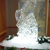 Winter theme Snow shoes Ice Sculpture