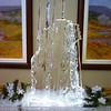 Winter skis theme ice sculpture