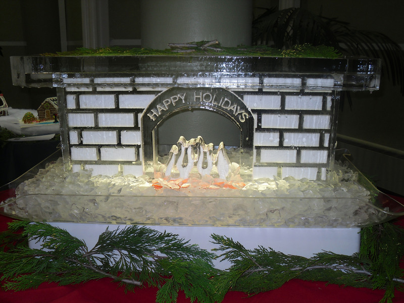 Fireplace at St. Luke's Hospital