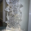 Stacked Snowflakes Ice Sculpture