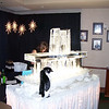Table top Ice bar with luge for Christmas Party at Longmont, Colorado. Country Club. Ice Shards design with Ice Shard Luge.