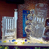 Boost Mobile sculpture and Ice Luge in downtown Denver