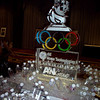 GE Home Technologies Ice carving with Olympic rings theme at the Brown Palace in Denver
