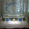 CDRN - Certified Restoration Drycleaning Network Ice luge with dual hose and funnels