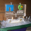 Long View and Net App full color logos with dual luges. Golf balls and tees in base of Ice Luge