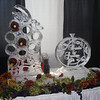 Grape Cluster wine rack with Bride and Groom grapevine design luge