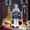 Corazon Tequila with beverage serving canisters encased in ice with spigot